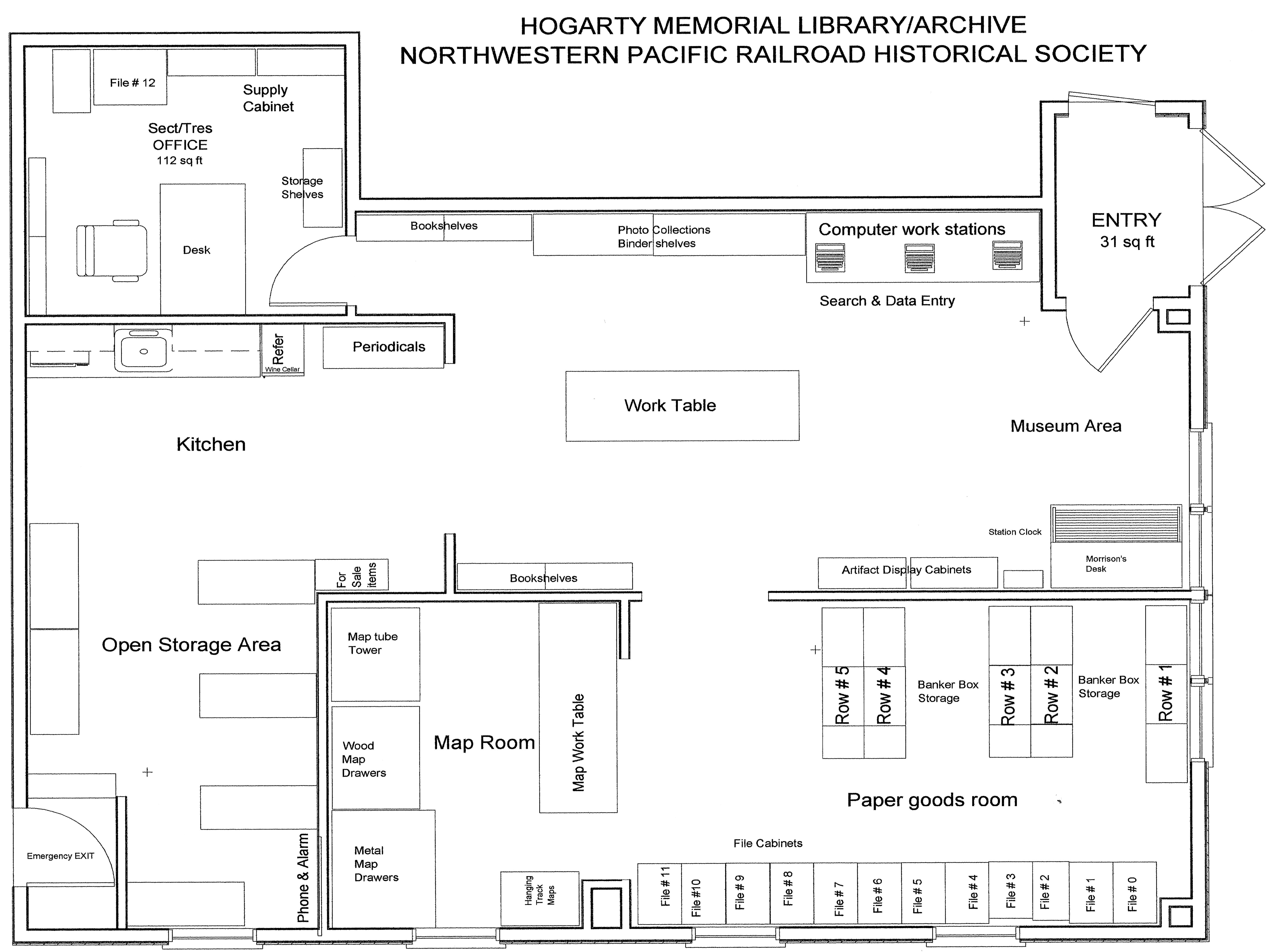 Floor plan for Archive